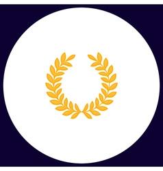 Victory wreath computer symbol vector