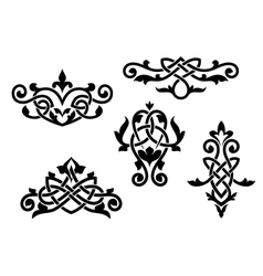 Vintage patterns and embellishments vector image