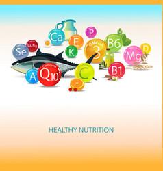 Vitamins and minerals vector