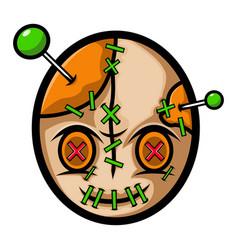 voodoo head mascot logo design vector image