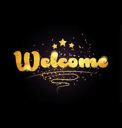Welcome star golden color word text logo icon vector