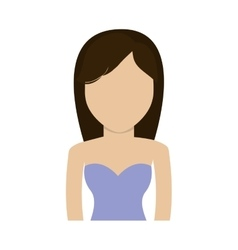 Woman girl female avatar person icon vector
