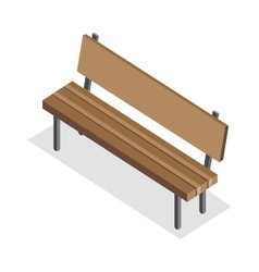 Wooden Bench in Isometric Projection vector image