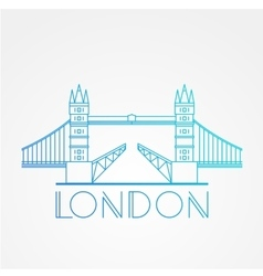 World famous London Bridge vector image