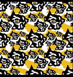 yellow and black rough abstract dark eyes vector image
