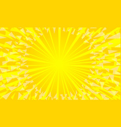 Yellow background with sun rays vector