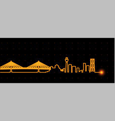 Yokohama light streak skyline vector