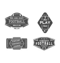 American football field geometric team or league vector image