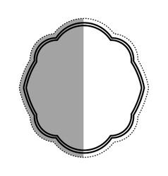 Decorative circle emblem icon vector image