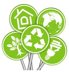 environment icon tree vector image vector image