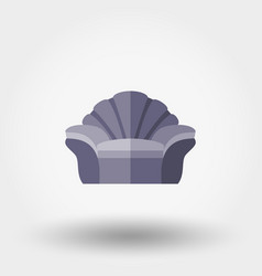 soft chair shell vector image