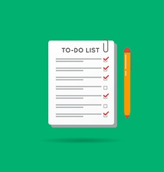 To-Do List or Checklist Icon Can be used as Logo vector image