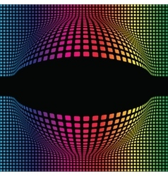 Abstract Multicolor Spherical Background vector image