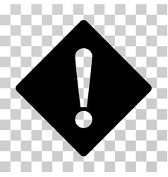 error rhombus icon vector image