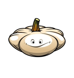 Fresh pumpkin with a happy smile vector image