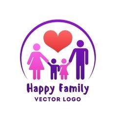 Happy family love logo vector image vector image