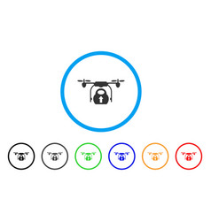load cargo drone rounded icon vector image vector image