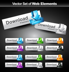 shiny web buttons vector image