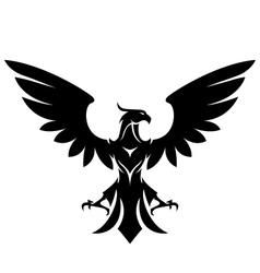 stylized eagle vector image