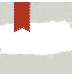 white grunge label on textured dark background vector image vector image