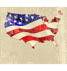 American flag map vector image