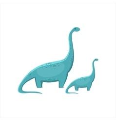 Blue brahiosaurus dinosaur prehistoric monster vector