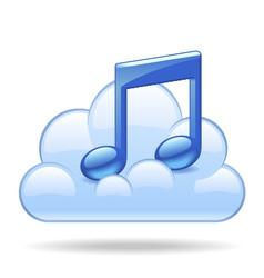 Cloud music vector