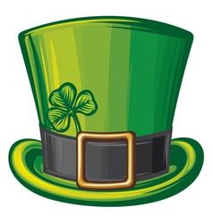 St Patrick green hat vector image vector image