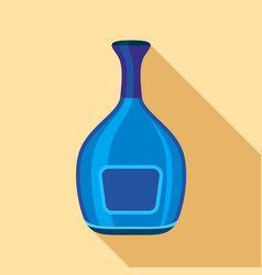 blue wide bottle icon flat style vector image