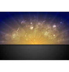 Bright sunlight background vector image vector image