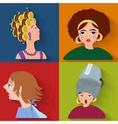 Flat people avatar beauty spa customers vector