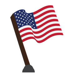 isolated flag of the united states vector image