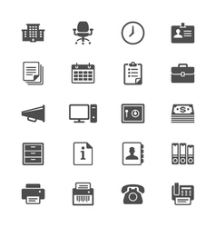 Office supplies flat icons vector image