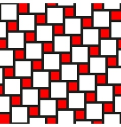 Red and white tiles seamless pattern vector