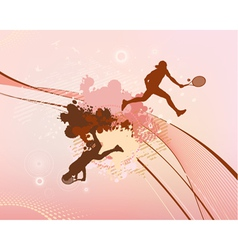 red stains and blots tennis player vector image