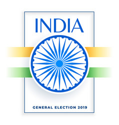 2019 election of india banner design vector