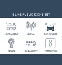 6 public icons vector