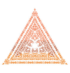 a triangle arabesque in indian style vector image
