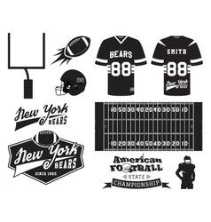 american football uniform t-shirt design vector image