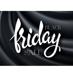 black friday poster with vector image