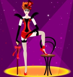 burlesque dancer vector image