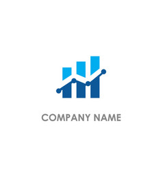 business graph company logo vector image