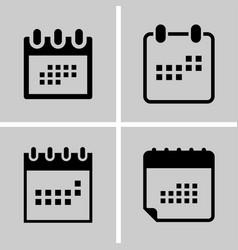 calendar - icon set set icon four you vector image