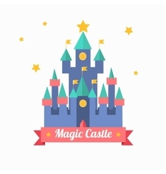 Cartoon Magic Castle Fairytale Medieval House vector