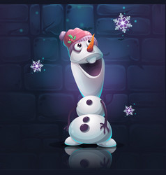 Cartoon snowman vector