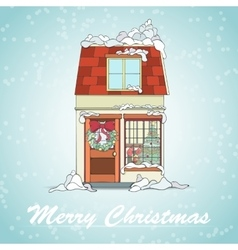 Christmas holliday card vector image