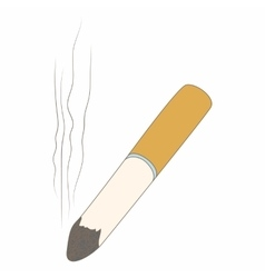 Cigarette butt icon cartoon style vector