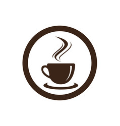 Coffee cup logo template icon design vector