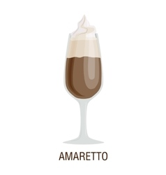 Coffee cups different cafe drinks amaretto vector