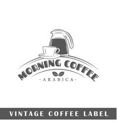 Coffee label vector